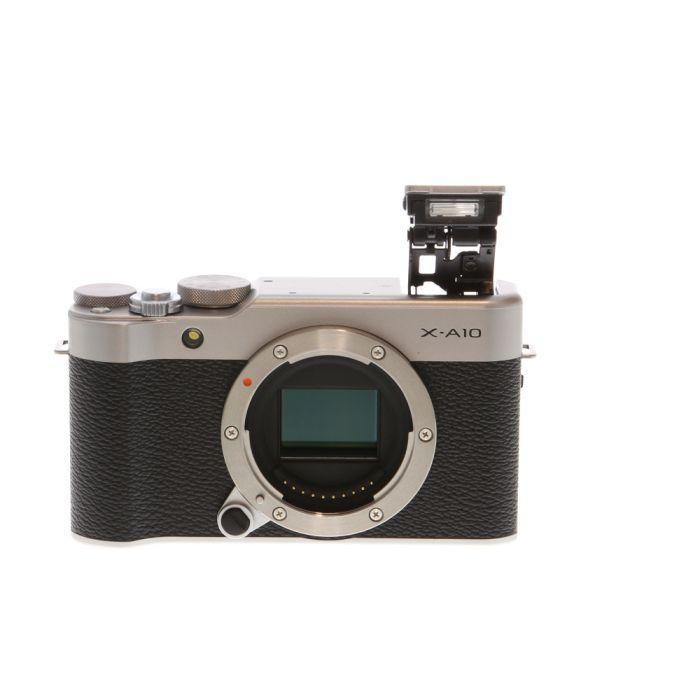 Fujifilm X-A10 Mirrorless Digital Camera Body, Silver {16.3MP}