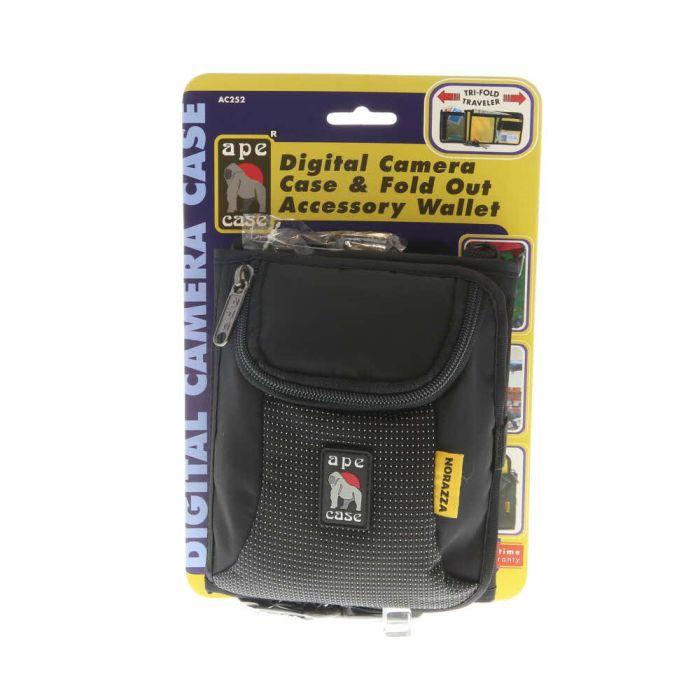 Ape Case AC252 Tri-Fold Wallet and Camera Case (Black)