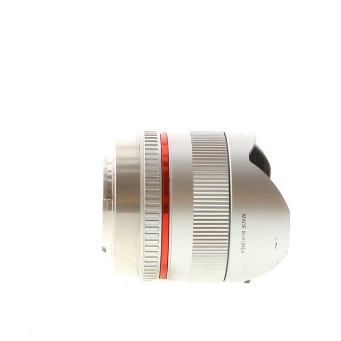 Rokinon 8mm f/2.8 UMC Fisheye II Lens For Fujifilm X-Mount Mirrorless, Silver