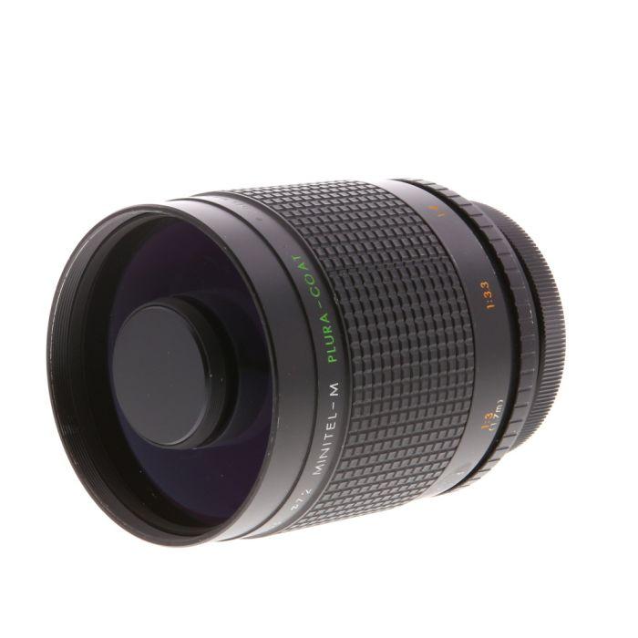 Spiratone 500mm F/8 Mirror Minitel-M Plura-Coat Macro Manual Focus Lens with T-Mount Adapter for Canon FL Mount {72}