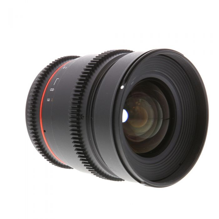 Samyang Cine 16mm T2.2 ED AS IF UMC CS Manual Lens for Canon EF-Mount APS-C DSLR {77}