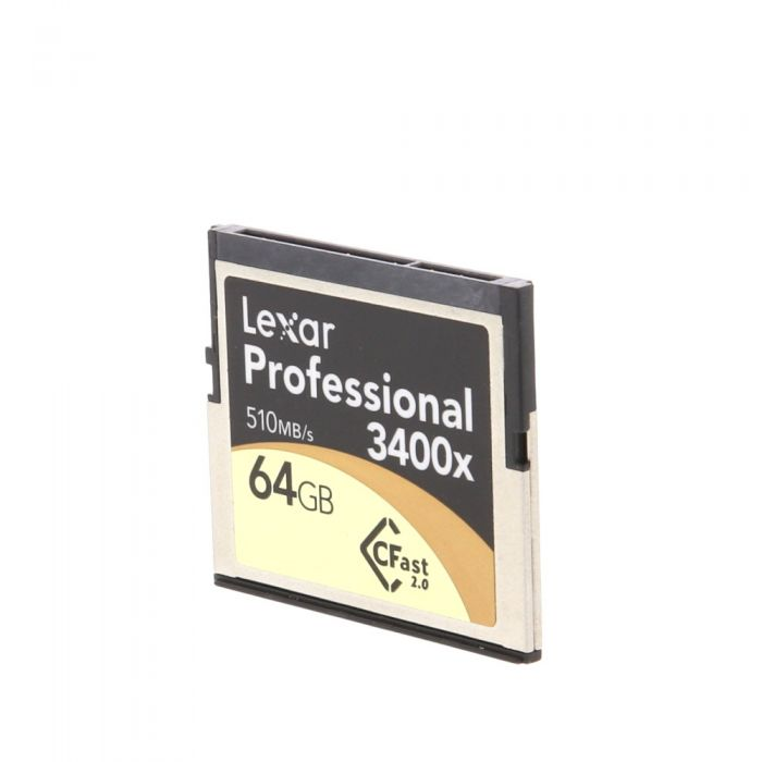 Lexar 64GB 510 MB/Second 3400X Proessional CFast 2.0 (For Cameras Based On CFast 2.0 Technology)