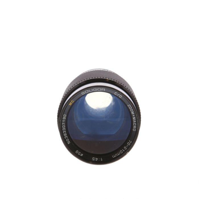 Soligor 70-210mm F/4.5 Macro C/D AE Manual Focus Lens For Konica {58}