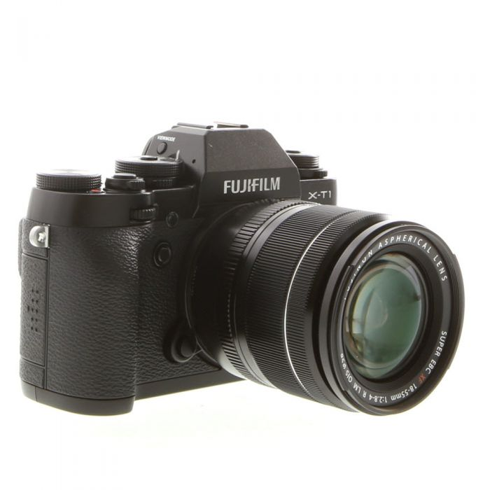 Fujifilm X-T1 Mirrorless Digital Camera {16.3MP}, Black with 18-55 f/2.8-4 XF R LM OIS Lens, {58} without EF-X8 Flash
