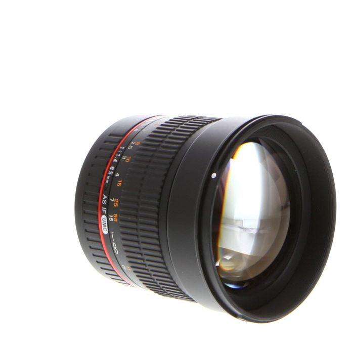 Samyang 85mm f/1.4 AS IF UMC Manual Lens for Sony Alpha {72}