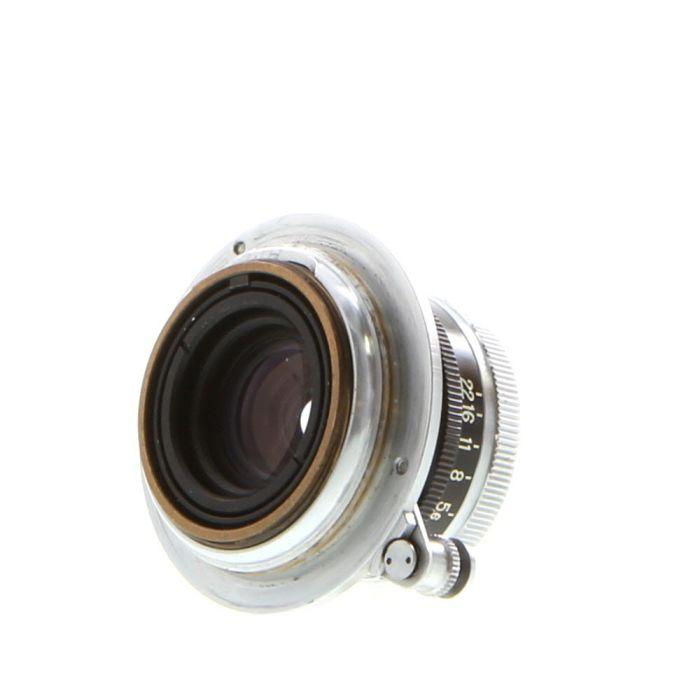 Nikon 3.5cm (35mm) f/2.5 W-Nikkor-C Black/Chrome Lens For Leica Screw Mount {34}