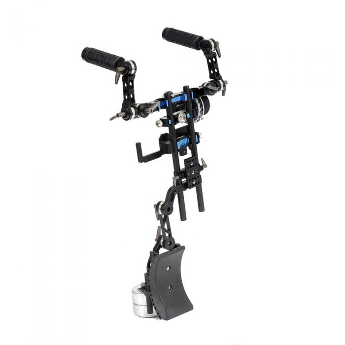 Ikan Tilta TT-03-TL DSLR Shoulder Rig with Follow Focus, 2x 1 kg Counterweights with 15mm Counterweight Bracket