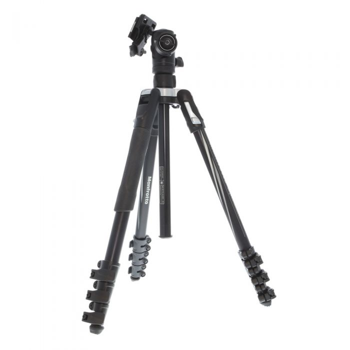 Manfrotto Befree Aluminum Compact Travel Tripod with Ballhead, 4-Section, Black/Silver, 16-56.7\