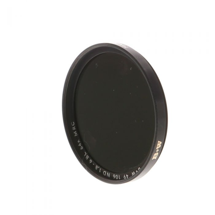 B+W 49mm Neutral Density 106 ND 64X 1.8-6 BL MRC F-Pro Filter