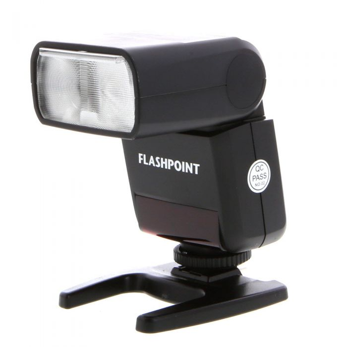 Flashpoint Zoom-Mini TTL R2o Flash with Integrated R2 Radio Transceiver for Olympus, Panasonic M43 Camera [GN80] {Bounce, Swivel, Zoom}