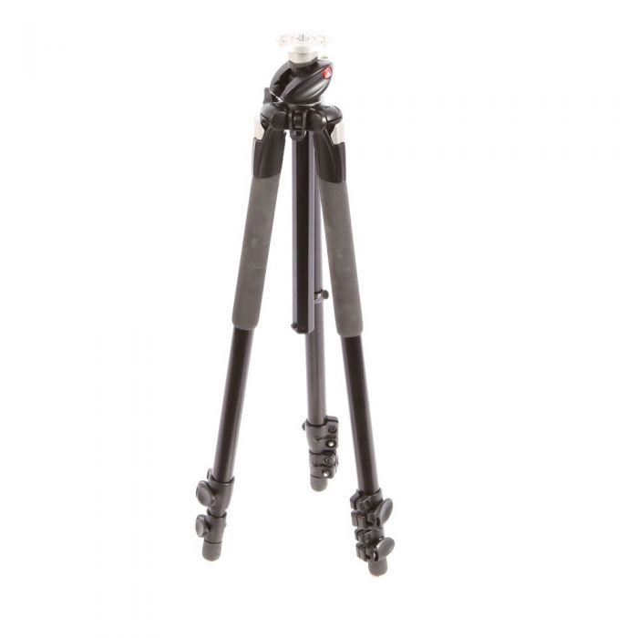 Manfrotto 190XPROL Aluminum Tripod Leg, 3-Section, Black, 25.2-64.6\
