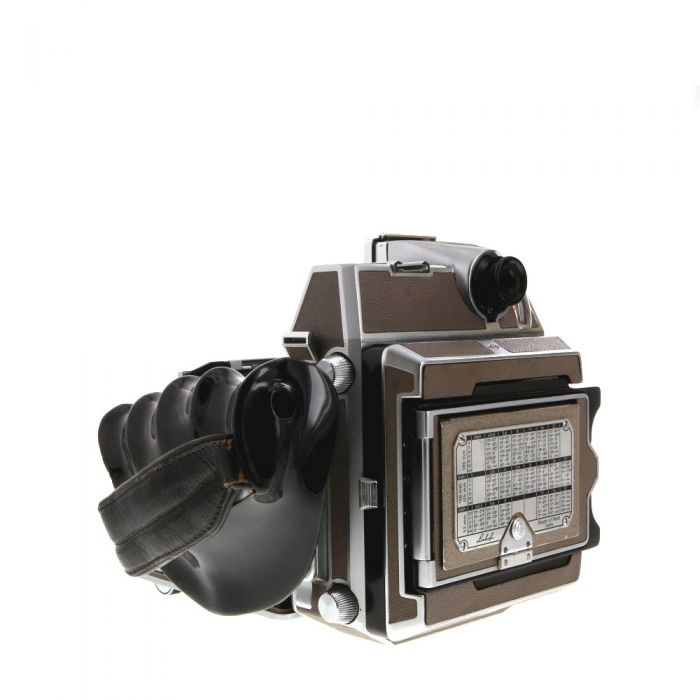 Linhof 2X3 Super Technika IV B Folding View Camera, Tan Leather with III Front Standard With 105 f/2.8 Xenotar Lens