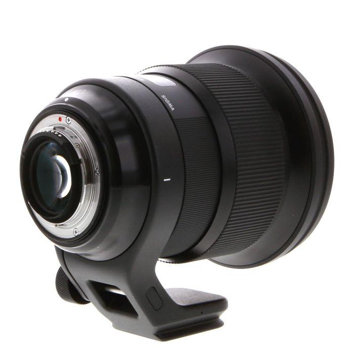 Sigma 105mm F/1.4 DG (HSM) A (Art) Black Lens For Nikon {105} With Tripod Collar