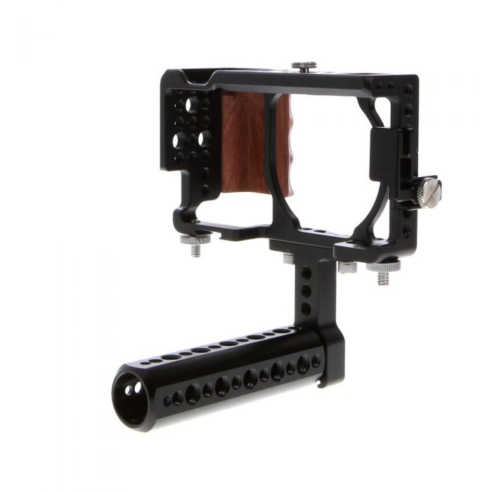 SmallRig Camera Cage for Sony a6000, a6300, a6400, a6500, Nex-7 with Top Handle, Wooden Grip (1661)