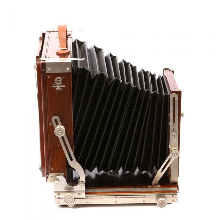 Deardorff 8x10 Folding View Camera Body, Chicago, without Front Swings, without Metal Tripod Mounting Plate (Requires Rounded Corner Lens Board)