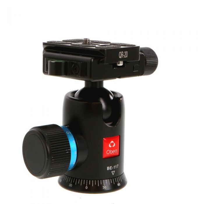 Oben BE-117 Tripod Ball Head with Knob Quick Release Clamp
