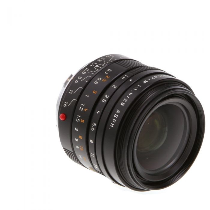 Leica 28mm f/1.4 Summilux-M ASPH. M-Mount Lens without Protection Ring, Germany, Black, 6-Bit {E49} 11668