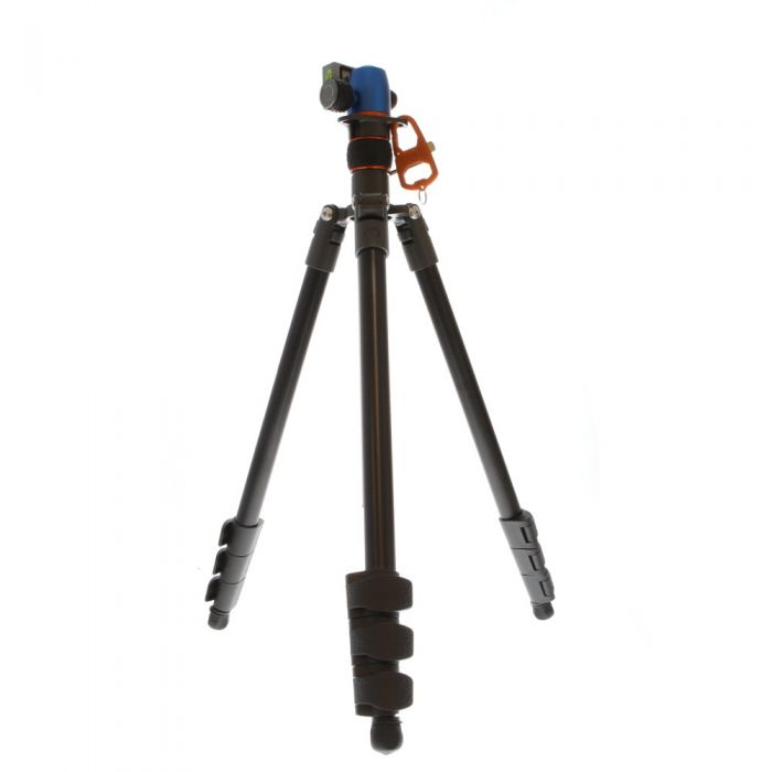 3 Legged Thing Punks PATTI Magnesium Alloy Tripod with AirHed Mini Ball Head, 4-Section, Black/Gray, 7.2-64 in.