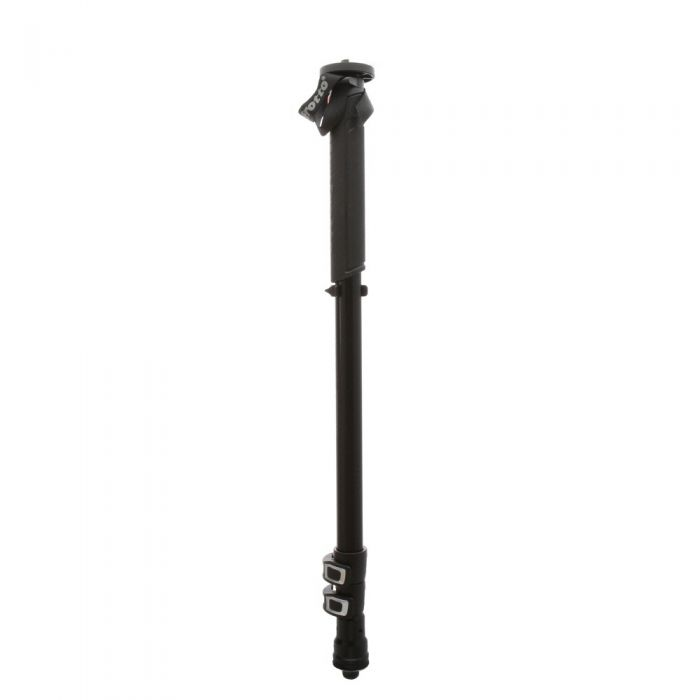 Manfrotto MMXPROA3BUS Aluminum Monopod with Tri-Foot Base , Black, 3-Section, 24.8-63\