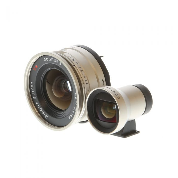 Contax 21mm f/2.8 Carl Zeiss Biogon T* Lens with Finder for Contax G System (G2, Modified G1 Bodies) Titanium {55}