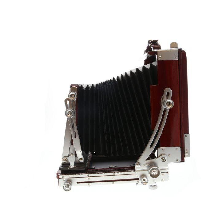 Tachihara 5x7 Fiel Standard Folding Field Camera Body, Cherry Wood with Chrome Fittings