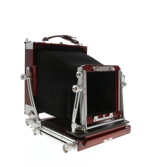 Tachihara 5x7 Fiel Standard Folding Field Camera Body, Cherry Wood with Chrome Fittings