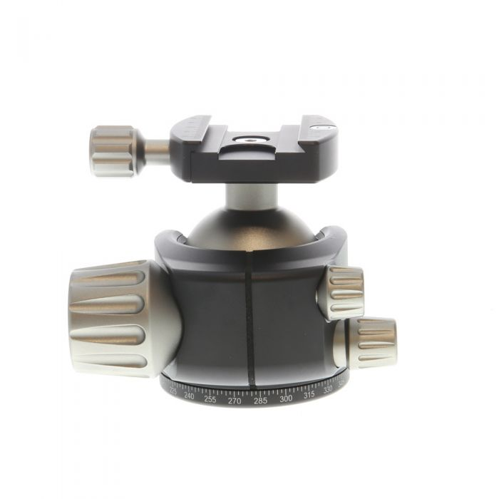 Leofoto LH-55 Low Profile Panning Ball Head with Knob Quick Release Clamp (Requires Quick Release Plate)