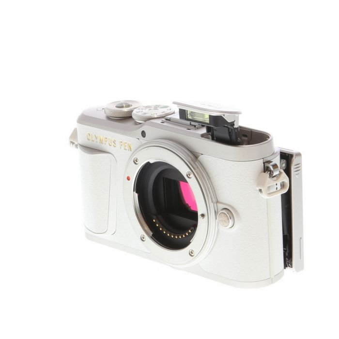Olympus PEN E-PL9 Mirrorless Micro Four Thirds Digital Camera Body, Silver/White Leatherette {16.1MP}