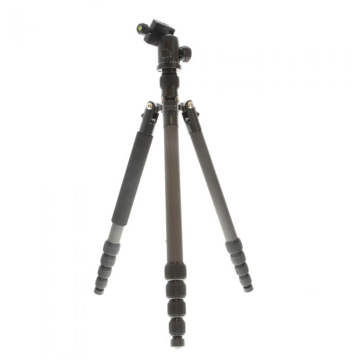 Manfrotto Element Carbon Fiber Big Traveler Tripod with Ball Head, Black, 5-Section, 16.1-64.6