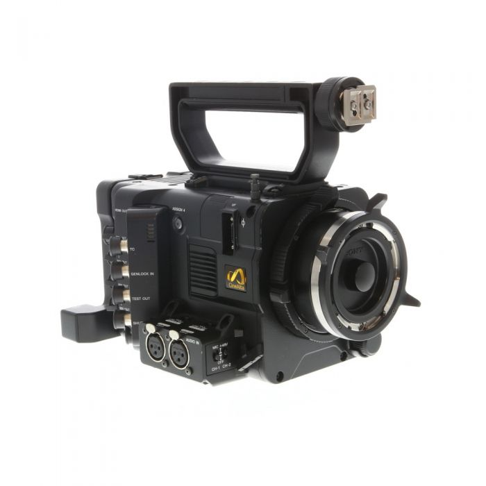 Sony CineAlta PMW-F5 Super35 2K60p/8.9MP Digital Cinema Camera Body (Native FZ-Mount) with Audio Connector