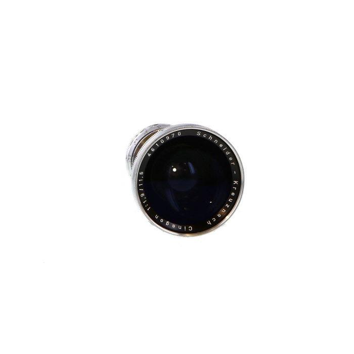 Schneider 11.5mm f/1.9 Cinegon C-Mount Lens, Black/Chrome {49}