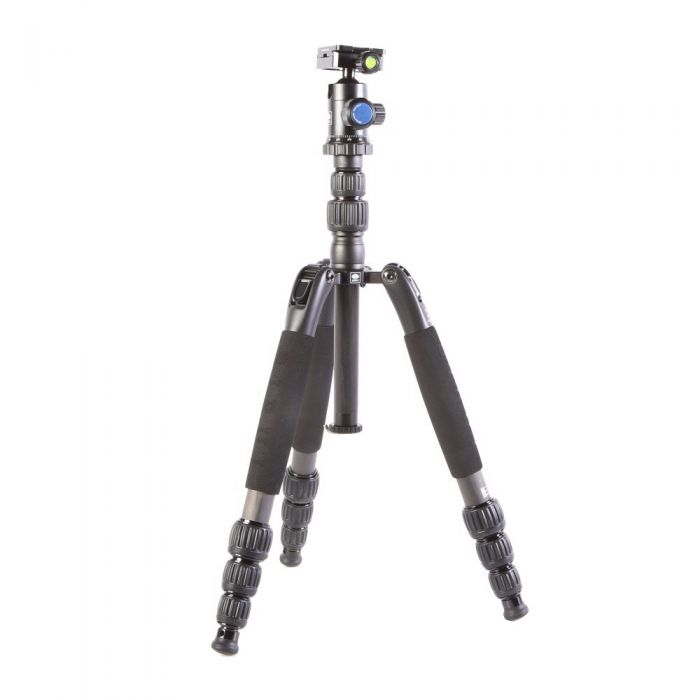 Sirui T-1204SK+G10KX G-10KX BallHead, T-S Carbon Fiber Travel Tripod Legs, Black, 4-Section, 5.5