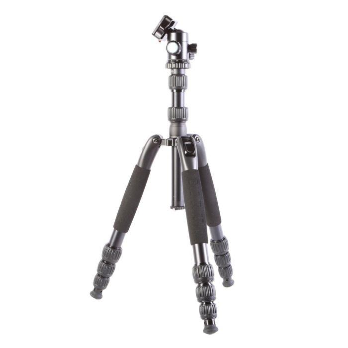 Sirui T-2004SK+G20KX G-20KX BallHead, T-S Aluminum Travel Tripod Legs, Black, 4-Section, 5.5