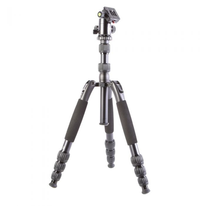 Sirui T-2004SK Aluminum Travel Tripod with G-20KX Ball Head, 4-Section, Black, 5.5-56.2 in.
