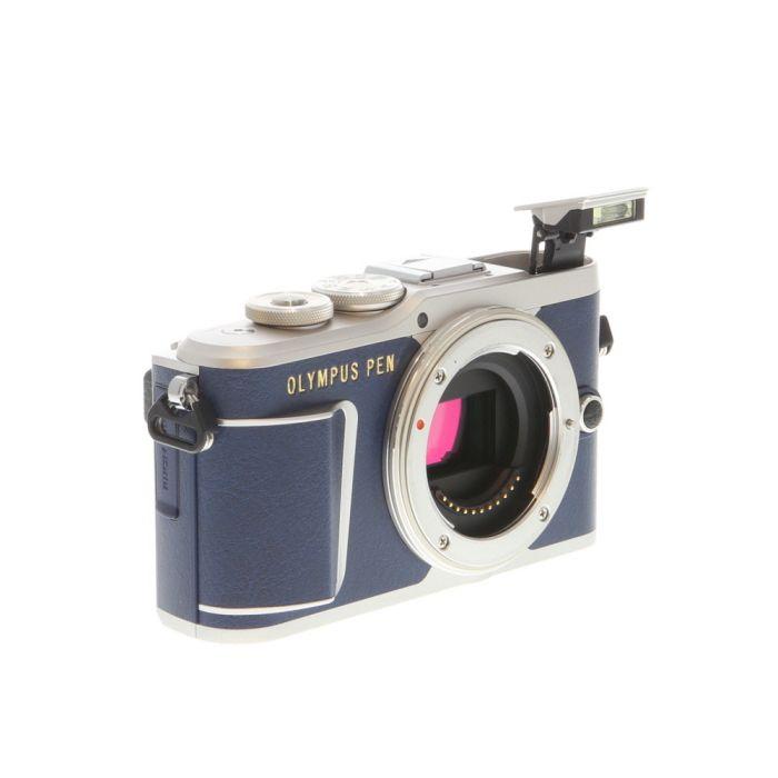 Olympus PEN E-PL9 Mirrorless Micro Four Thirds Digital Camera Body, Silver/Blue Leatherette {16.1MP}