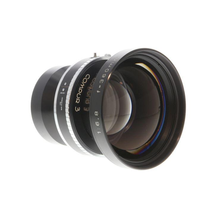 Rodenstock 360mm f/6.8 Sironar Compur 3 T (65MT) 8x10 Lens