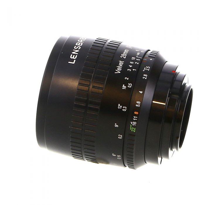 Lensbaby Velvet 28mm f/2.5 Manual Lens for APS-C Fuji X-Mount, Black {67}