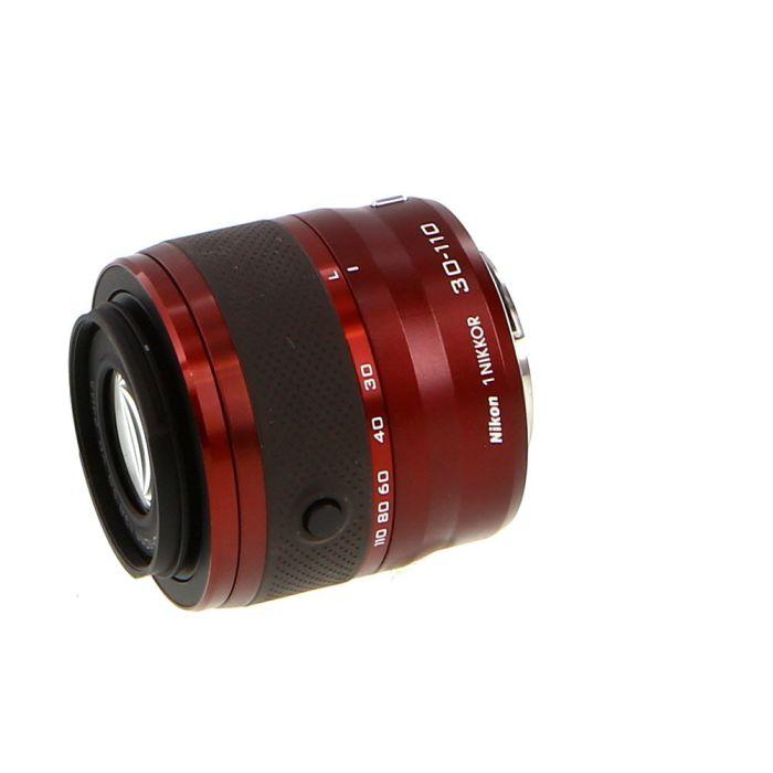 Nikon Nikkor 30-110mm f/3.8-5.6 VR Lens for Nikon 1 System CX Format, Burgundy {40.5}