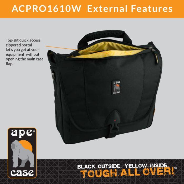Ape Case ACPRO1610W Envoy Large Messenger DSLR Case (Black)