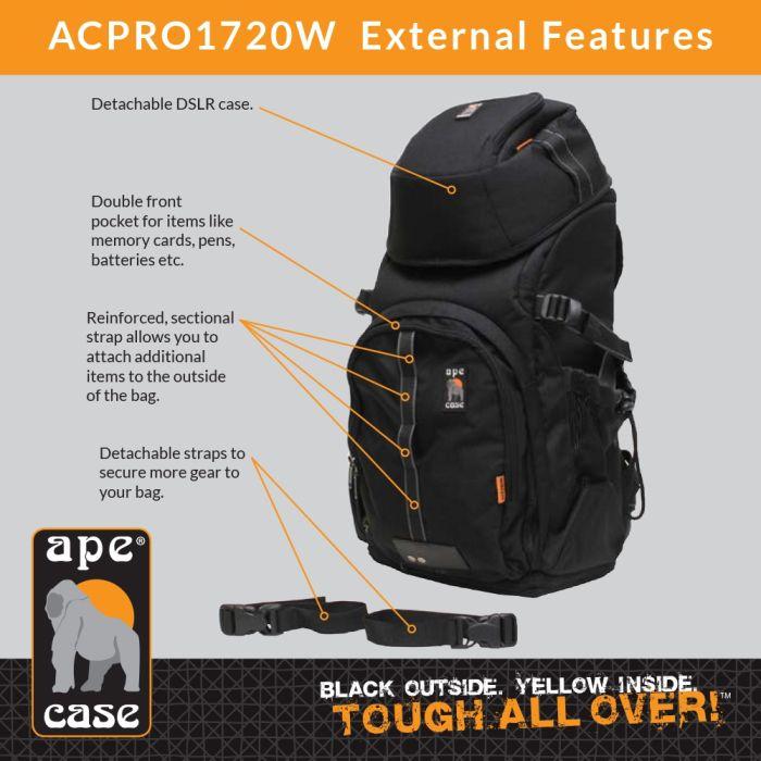 Ape Case ACPRO1720W Digital SLR Converta-Pack Backpack (Black)