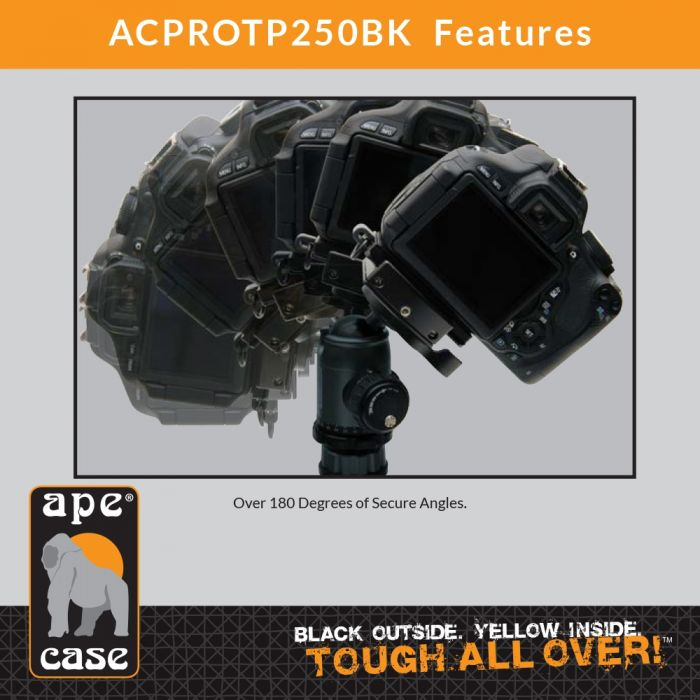 Ape Case ACPROTP250BK Pro Series TP250 Tripod and Ball Head, QR, Case