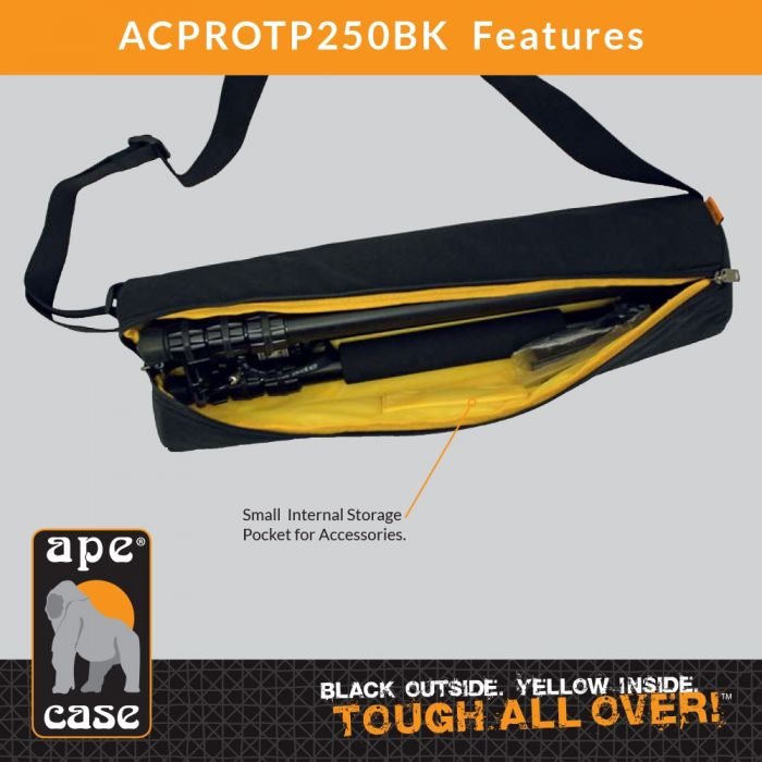 Ape Case ACPROTP100BK Pro Series TP100 Travel Tripod and Ball Head, QR, Case