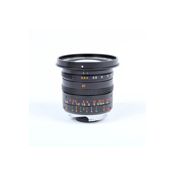 Konica 21-35mm f/3.4-4 Dual Focal M-Hexanon Lens with Finder for Hexar RF