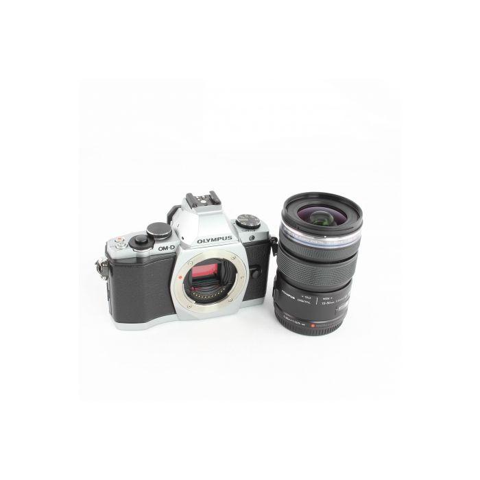 Olympus OM-D E-M5 Digital Camera, Silver, with 12-50mm F/3.5-6.3 M. Zuiko ED EZ MSC Lens, Black, FL-LM2 Flash {16.1MP} [52]