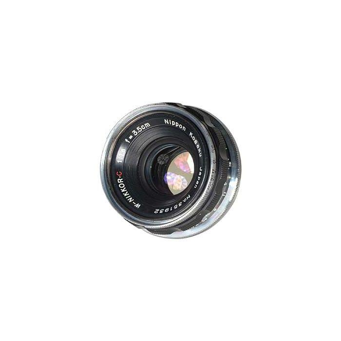 Nikon 35mm (3.5CM) F/1.8 W Nikkor Black Lens For Nikon Rangefinder Cameras [43]