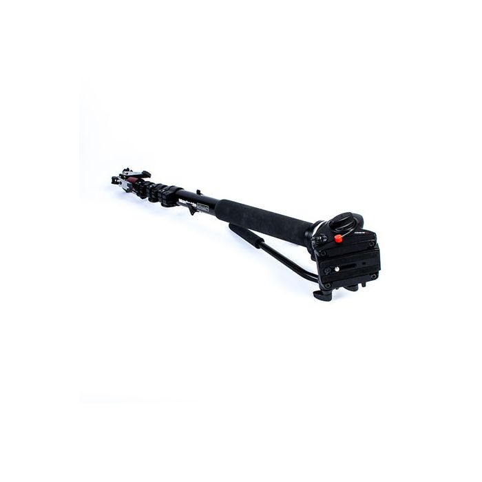 Manfrotto 561BHDV-1 Fluid Monopod, Black, 4-Section, 30.31-78.72\