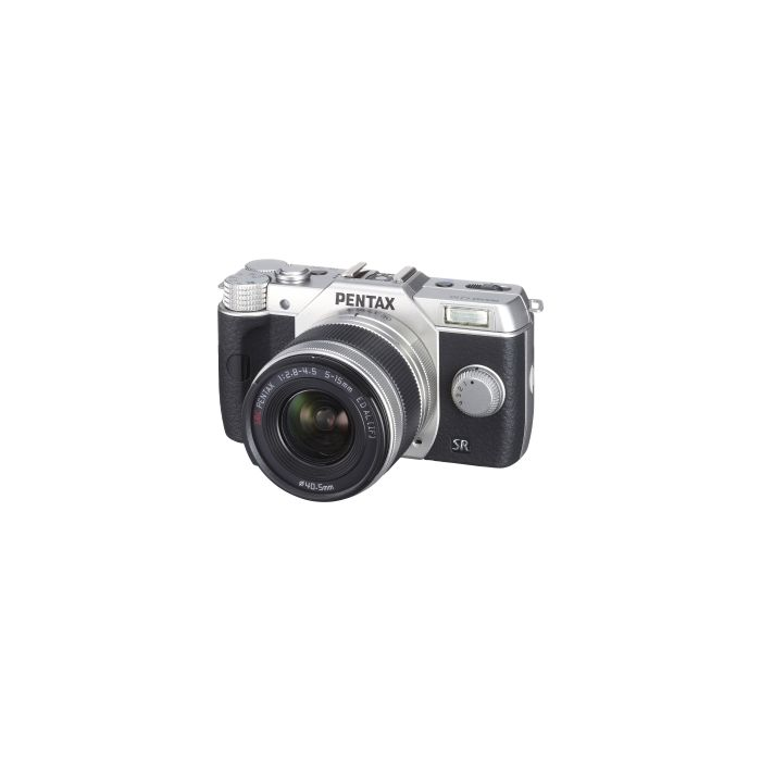 Pentax Q10 Mirrorless Digital Camera, Silver with Black Grips, 5-15mm F/2.8-4.5 ED AL IF Lens, Silver (40.5) {12.4 M/P}