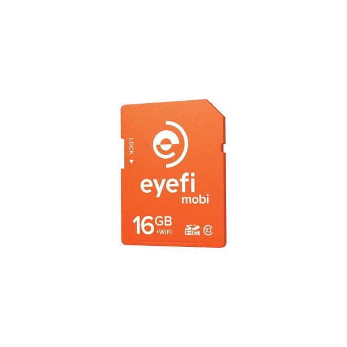 Eye-Fi Mobi 16GB + WiFi Card, Class 10 SDHC Memory Card