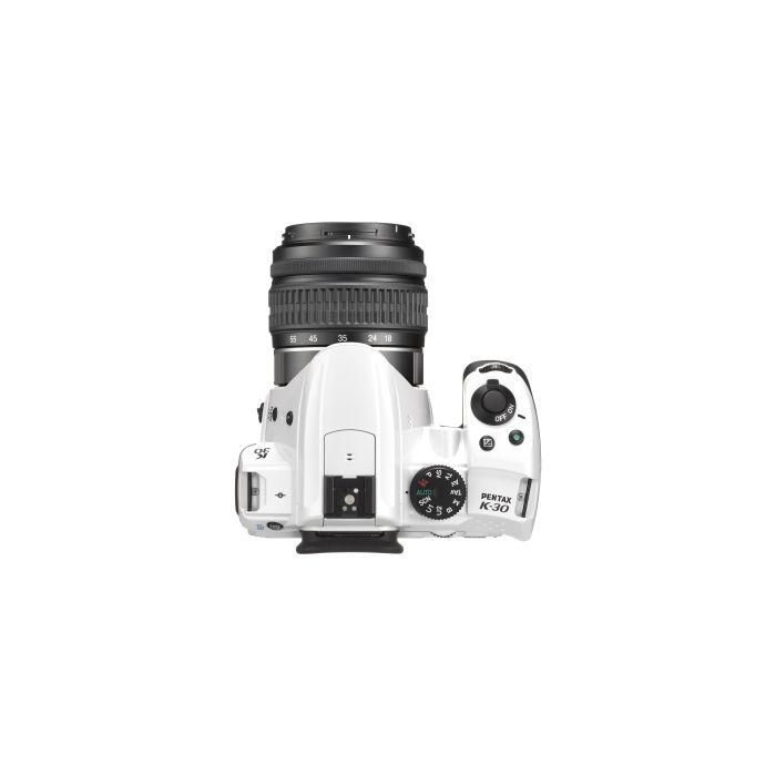 Pentax K-30 White Digital Camera With 18-55mm F/3.5-5.6 DA AL WR Black Lens (52) {16.3 M/P}