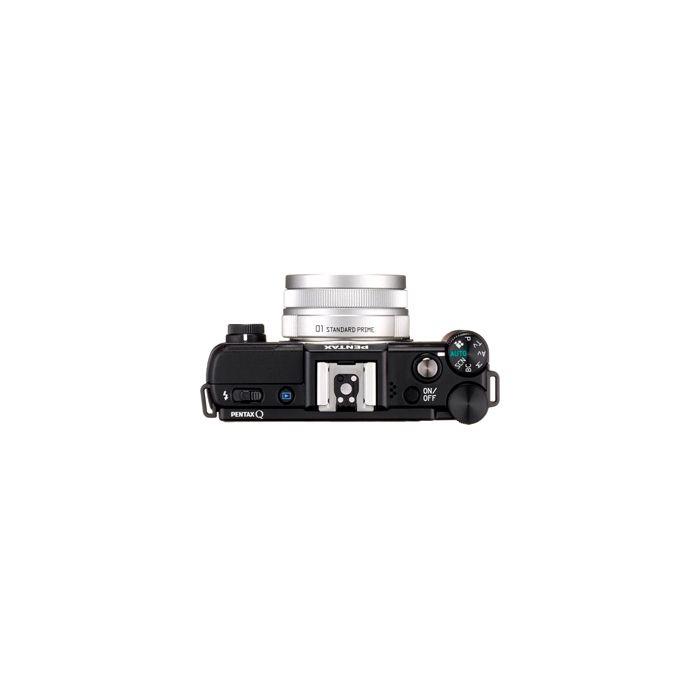 Pentax Q Mirrorless Digital Camera, Black, With 8.5mm F/1.9 AL [IF] Lens, Silver (40.5) {12.4MP}